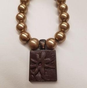 Jewelry - Polymer clay beaded bracelet